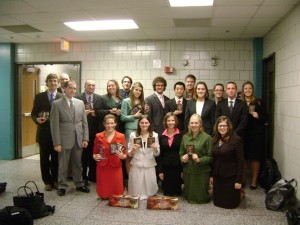The Gustavus forensics team following the 2009 Larry Schnoor Invitational