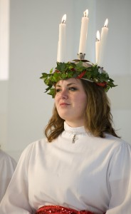 Jennifer Fox was crowned St. Lucia on Thursday, Dec. 10 in Christ Chapel. Photo by Alex Messenger '10