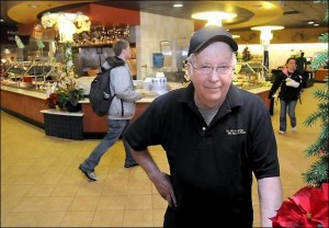 Steve Brown recently received his college degree at age 70. Photo by Pat Christman of the Mankato Free Press.