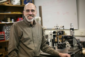 Tom Huber in his research laboratory.