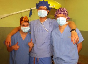 Yost, Ulsby, and Matheson after having observed their first surgery.