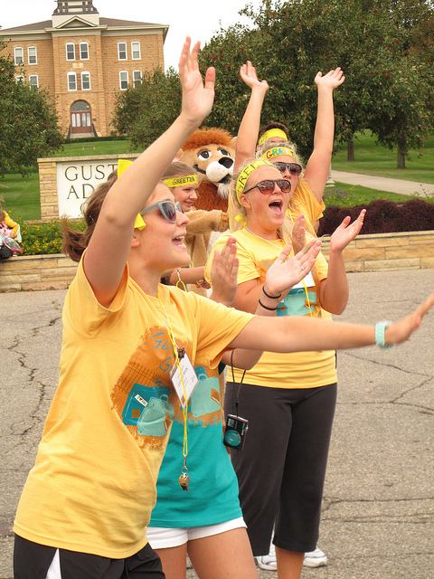 The Class of 2016 will be welcomed to campus by the Gustie Greeters.