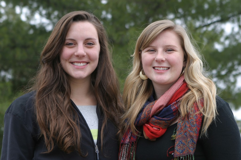 Gustavus juniors Anna McDevitt '14 and Jill Oxborough '14.
