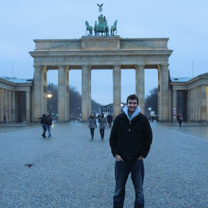 Klajda in Berlin, Germany during a study-away trip during his junior year.