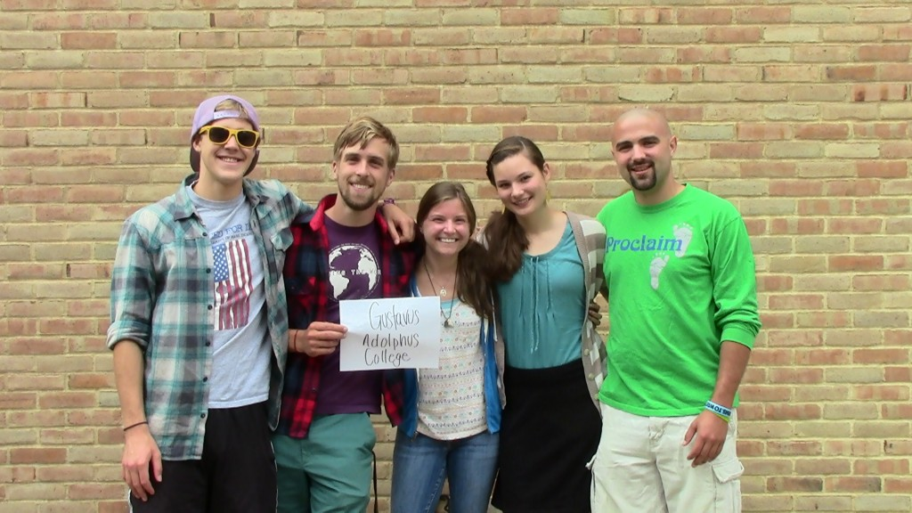 From left to right: Benjamin Batz '12, Brin Bailey '13, Elizabeth Logas '13, Ben Whalen '13.