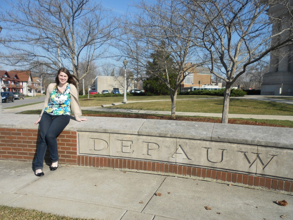 Goepfert at the DePauw Undergraduate Honors Conference in Communication in the Spring of 2013.