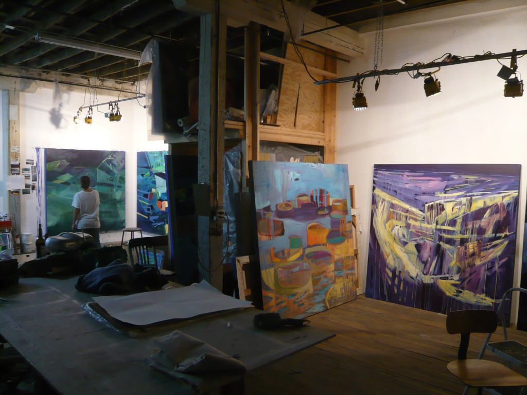 Betsy Byers' Studio at Night