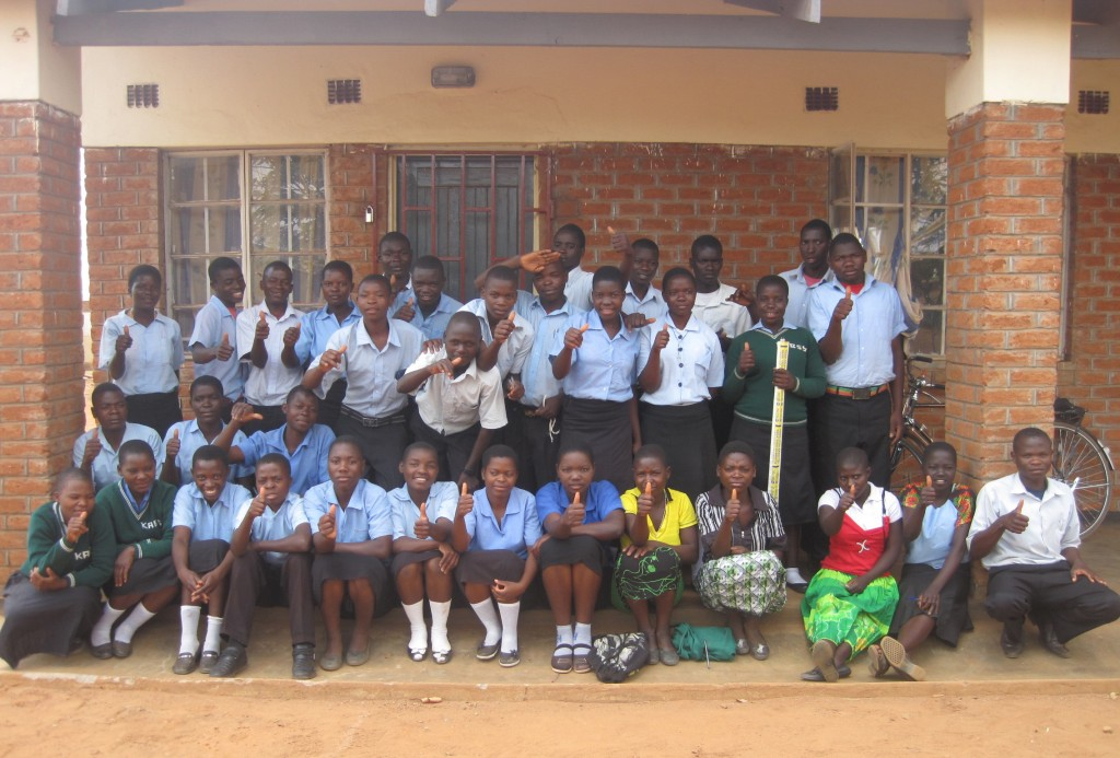 Students at the high school in Kabudula, Malawi who received a scholarship from World Altering Medicine. The school is supported by WAM's Kabudula Education and Empowerment Project (KEEP).