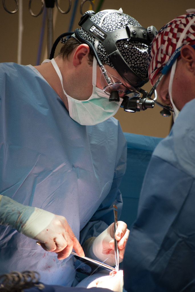Kreykes typically performs between two and seven surgeries a day.