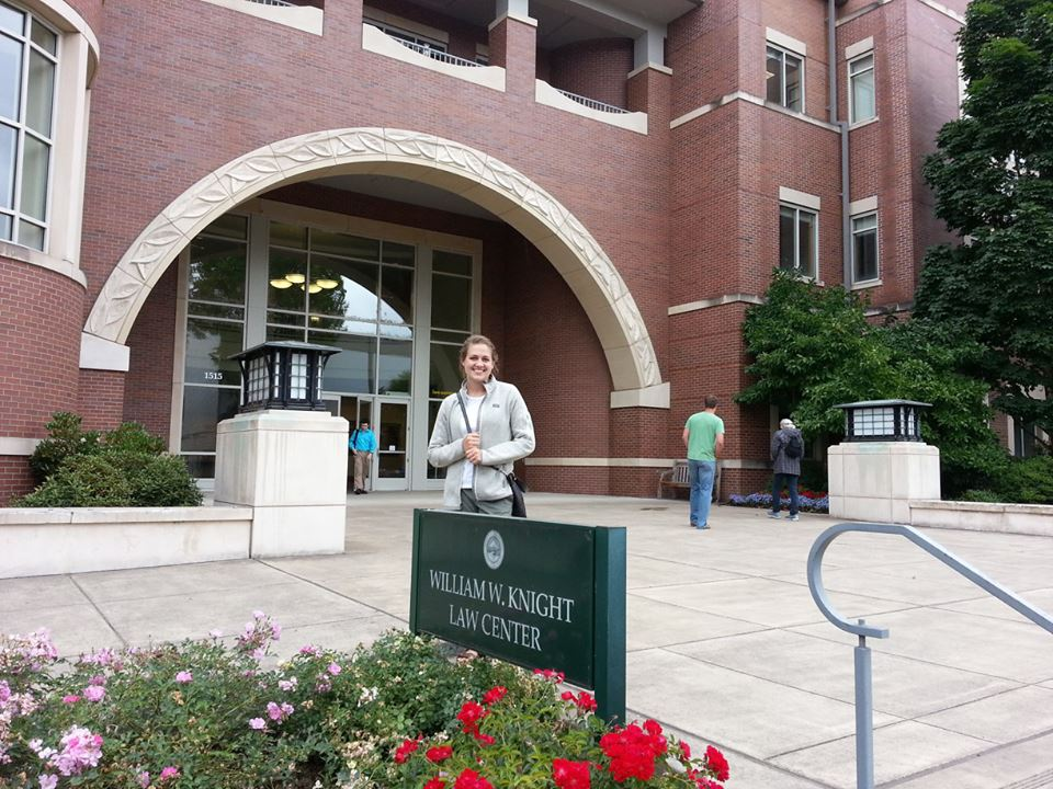 Sarah Hund is in her first year of law school at the University of Oregon.