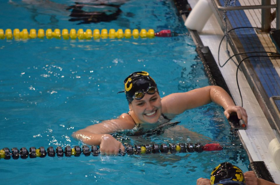 Hund helped the women's swimming and diving team win four consecutive MIAC championships.