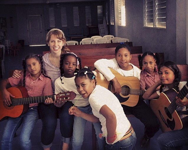 Karin Dye taught basic music theory, guitar, and piano in the Dominican Republic during January Term.