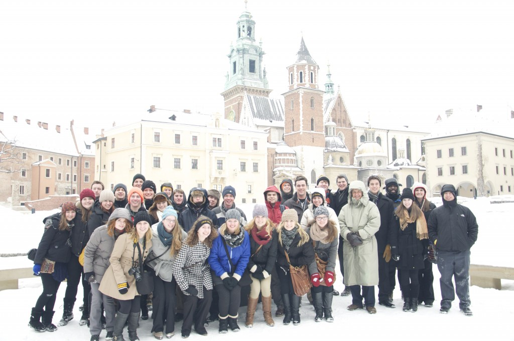 GWO members at Wawel Castle in Krakow, Poland.