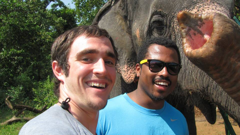 Steve Moertel and Francois Tompkins exchange pleasantries with some of India's wildlife.