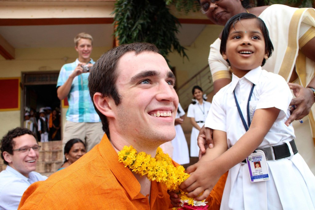 Junior Steve Moertel '15 was one of two Gustavus students to study abroad as part of the new Global Entrepreneurship in India program.