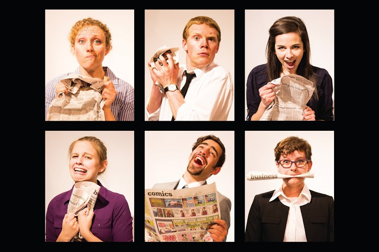 The cast of CIRCULATE (Photography by Annie Galloway '15)
