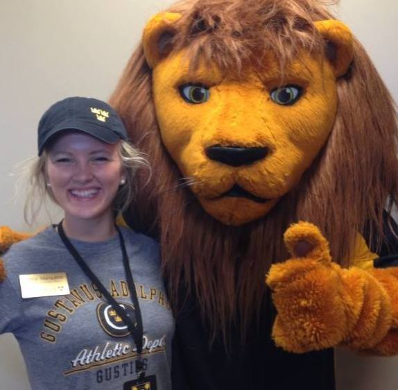 Marquette and Gus the Lion