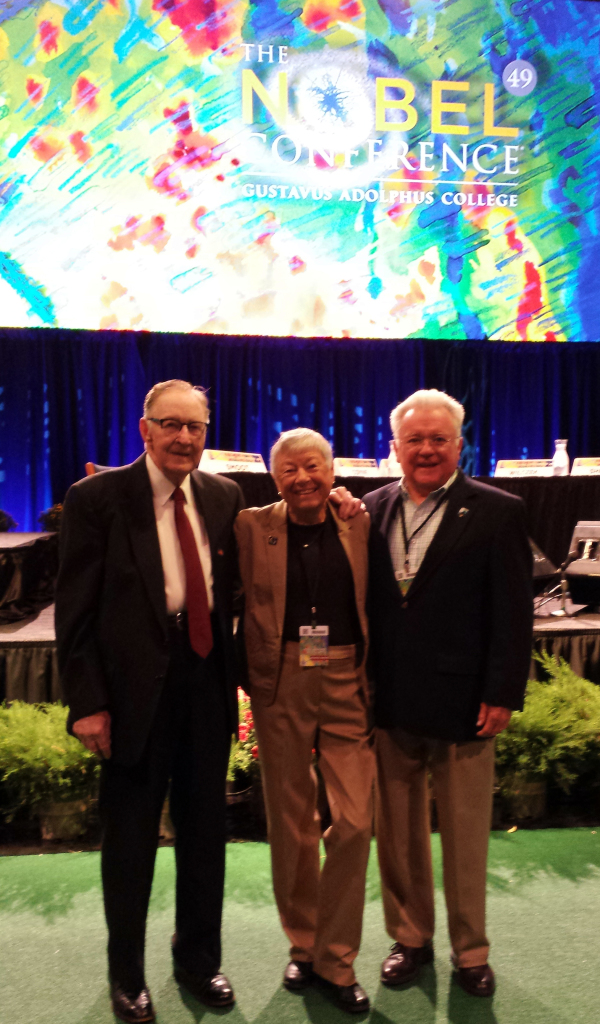 Bill Harvey, Sue Gray , and Bruce Gray '61 at the 49th Nobel Conference in 2013.