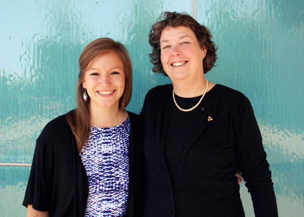 Mariah Wika '15 and Professor Leila Brammer.