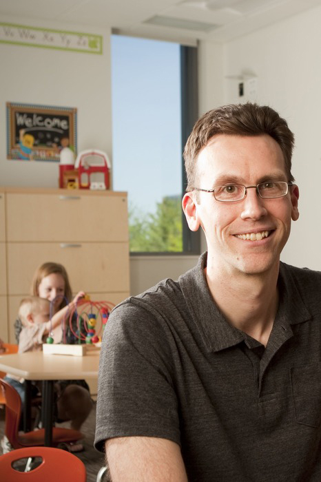 Associate Professor Kyle Chambers is the Co-director of the College's Center for Developmental Science.