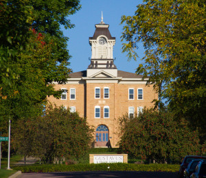 Old Main, which was built in 1876, is the oldest building on the Gustavus campus.