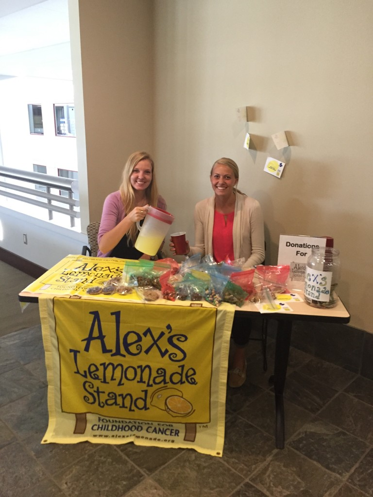 Mueller and Johnson volunteered with Alex's Lemonade Stand during their Cigna internship.