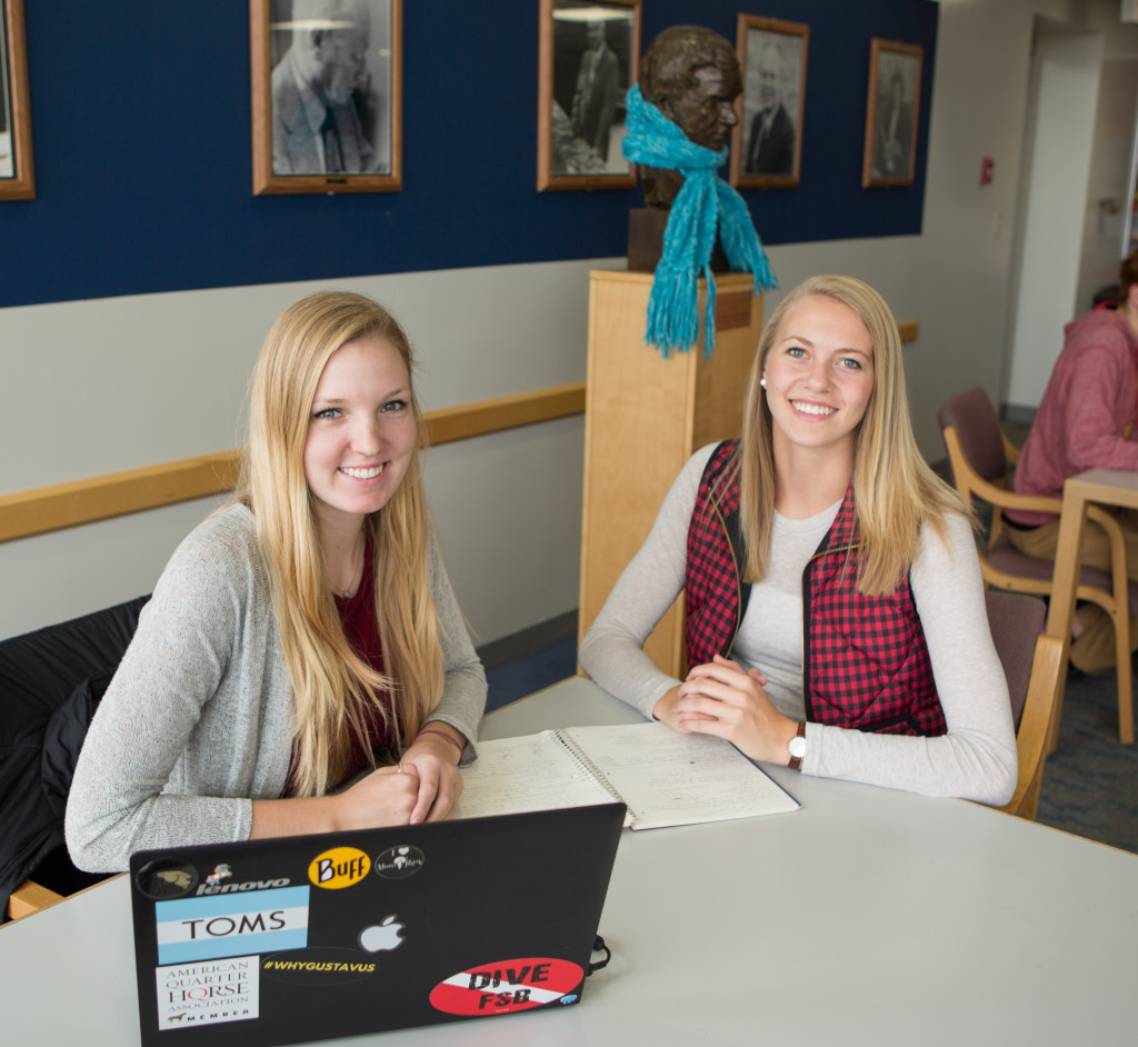 Diana Mueller and Lindsey Johnson recently accepted positions at Cigna after interning at the company this summer.