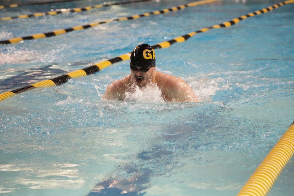 Stern competes on the Gustavus swimming and diving team.