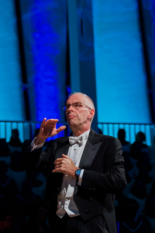 Dr. Aune conducted his 100th Christmas in Christ Chapel on Sunday evening.