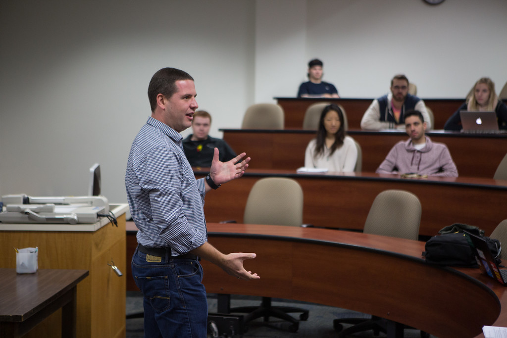 Kiril Avramov '99 visited Richard Leitch's XXXXXX class during his time on campus.