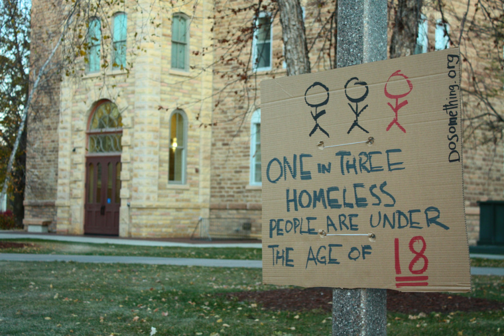 The annual Housing and Homelessness FTS sleep out seeks to educate the Gustavus Community.