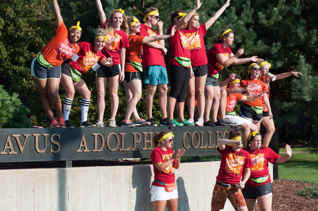 Harbeck (top row, third from left) is heavily involved in campus life.