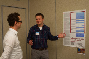 Sigafoos presents at last year's Celebration of Creative Inquiry.