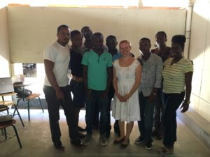 Versluis with her remote sensing students at the University of Haiti.