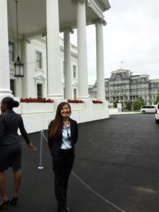 Dornon outside the White House.