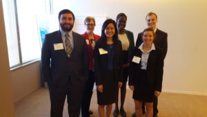 The team of Gustavus students pictured with professor Laura Bowyer and advisor Linda Bui '13.