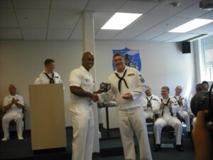 May graduates from submarine school.