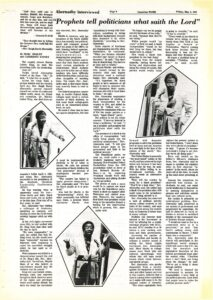 A Gustavus Weekly article discusses Rev. Dr. Ralph Abernathy's 1975 visit to campus.